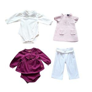 Lot of Baby Girl Tops Dress & Pants Size 6-9 month